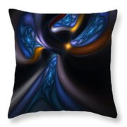 Abstract Stained Glass Angel Throw Pillow