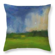 Abstract Stormy Landscape Throw Pillow