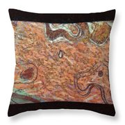 Abstract Style With A Black Border Throw Pillow