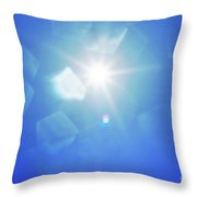 Abstract Sunlight Throw Pillow