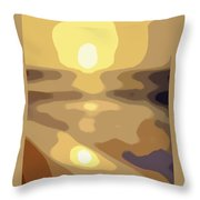 Abstract Sunset 34 Throw Pillow