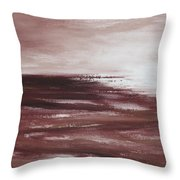 Abstract Sunset In Brown Reds Throw Pillow