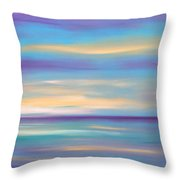 Abstract Sunset In Purple Blue And Yellow Throw Pillow