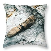 Abstract Surface Limestone With Rocks Throw Pillow