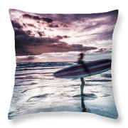 Abstract Surfer Throw Pillow