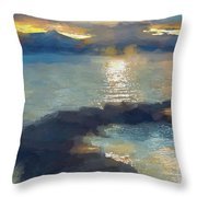 Abstract Tahoe Throw Pillow