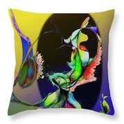 Abstract Tarot Card The Lovers Throw Pillow