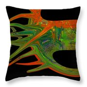 Abstract Tenticles Throw Pillow