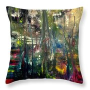 Abstract - The Man Buried In Moon River Throw Pillow