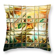 Abstract-through Glass Throw Pillow