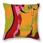 Abstract Torso Throw Pillow