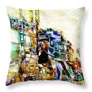 Abstract Train Throw Pillow