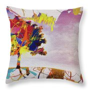 Abstract Tree 33w Throw Pillow