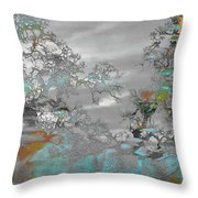 Abstract Tree Art 1 Throw Pillow