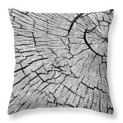 Abstract Tree Cut Throw Pillow