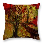 Abstract Tree Throw Pillow