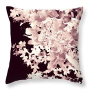 Abstract Tree Landscape Dark Botanical Art Rose Tinted Throw Pillow