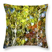 Abstract Tree Reflection Throw Pillow