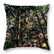 Abstract Trees 691 Throw Pillow