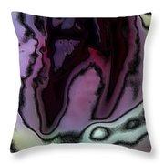 Abstract Tulip Throw Pillow