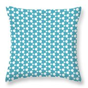 Abstract Turquoise Pattern 1 Throw Pillow