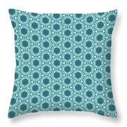 Abstract Turquoise Pattern 2 Throw Pillow