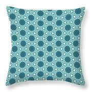 Abstract Turquoise Pattern 3 Throw Pillow