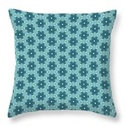 Abstract Turquoise Pattern 4 Throw Pillow