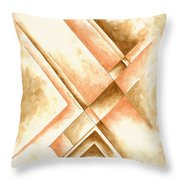 Abstract Unique Original Painting Contemporary Art Champagne Dreams I By Madart Throw Pillow