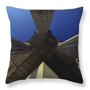 Abstract View Of Columns Of Lincoln Throw Pillow