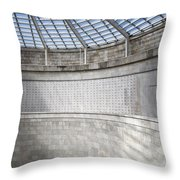 Abstract View Of The Central Tower Door With Skylight And Names  Throw Pillow