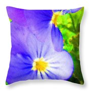 Abstract Violets Throw Pillow