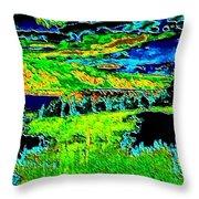 Abstract Vista Throw Pillow