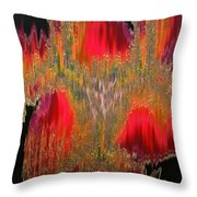Abstract Visuals - The Sizzle Factor Throw Pillow