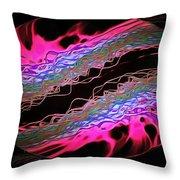 Abstract Visuals - Hot Pink Hemispheres Throw Pillow