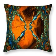 Abstract Visuals - Restructured Interior Throw Pillow