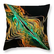 Abstract Visuals - A Tear In The Fabric Of Time Throw Pillow