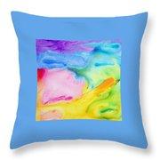 Abstract Vivid Throw Pillow