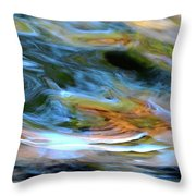 abstract water 2309DB Throw Pillow
