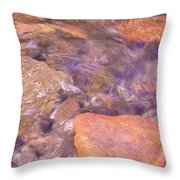 Abstract Water Art II Throw Pillow