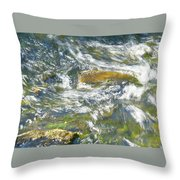 Abstract Water Art Vii Throw Pillow