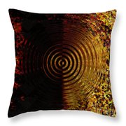 Abstract Water Effect Throw Pillow