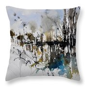 Abstract Watercolor 012130 Throw Pillow
