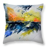Abstract Watercolor 7007555 Throw Pillow