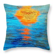 Abstract Watery Sunset Throw Pillow