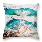 Abstract Waves Lbi Throw Pillow