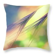 Abstract Weeds Yellow Throw Pillow