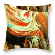 Abstract Whirls Within A Window Throw Pillow