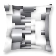 Abstract White And Grey Throw Pillow