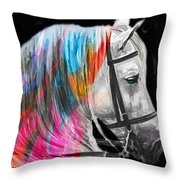 L . E . A . H Throw Pillow